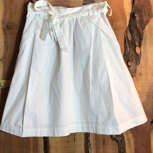 ANTHROPOLOGIE Odille White Pleat Pocket Skirt 4